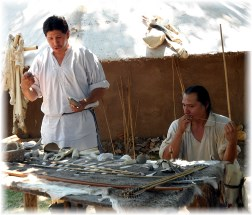 Cherokee making arrows 7/12/13