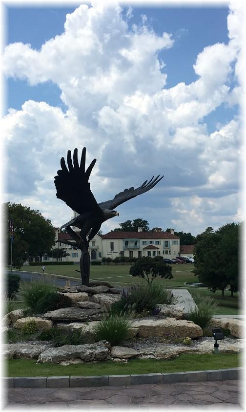 Eagle on Oklahoma Wesleyan University campus 8/2/17