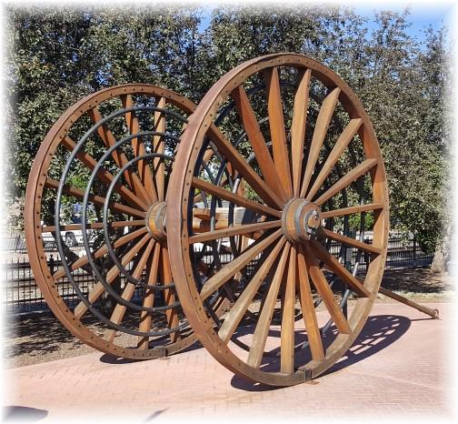 Giant wagon wheels in Flagstaff 7/10/16