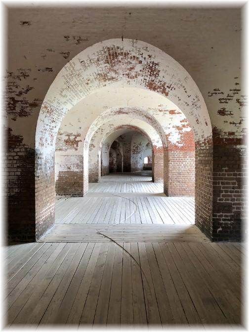 Fort Pulaski inner corridor