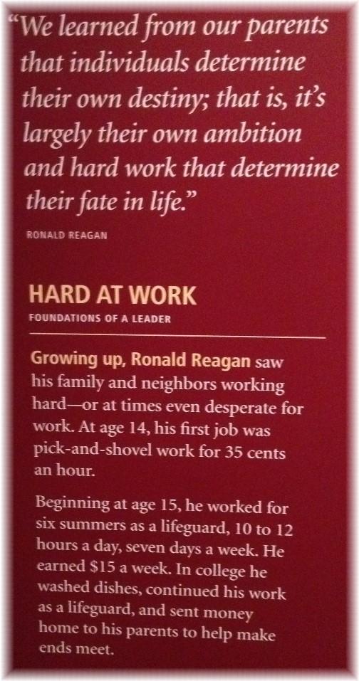 Plaque in Ronald Reagan library