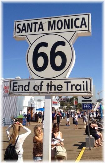 West terminus of Route 66