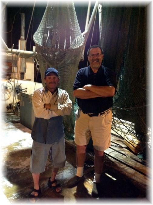 On Corpus Christi shrimp boat with Smurf 5/2/14