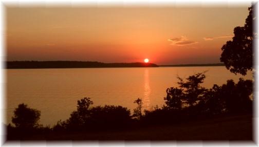 Sunset on Fort Gibson Lake, OK 7/11/13