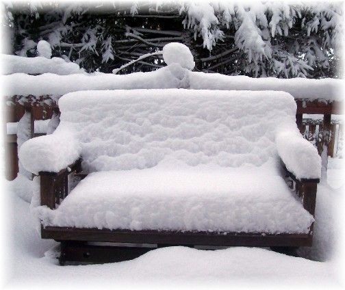 Our deck bench!