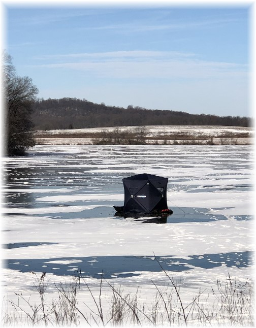 Ice fishing on Middle Creek Reservoir 1/7/18