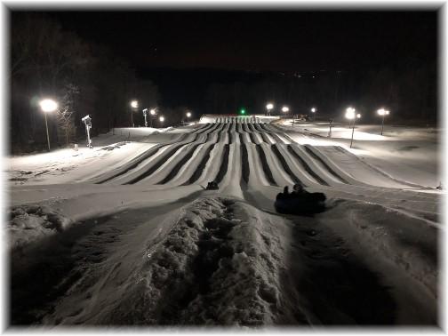 Iron Valley snow tubing course 2/8/18