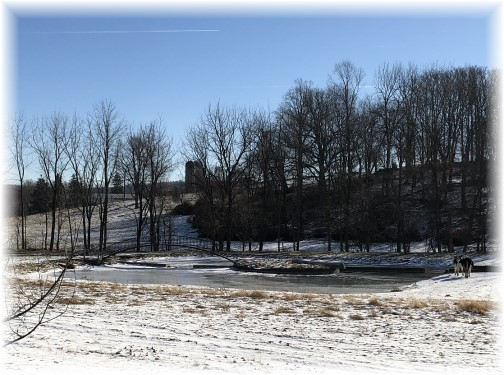Lebanon County farm pond in snow 1/7/18