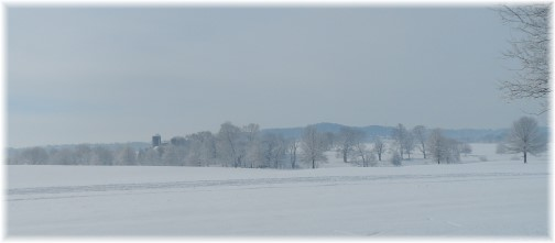 Winter scene from Nolt Road, Lancaster County, PA 2/4/14