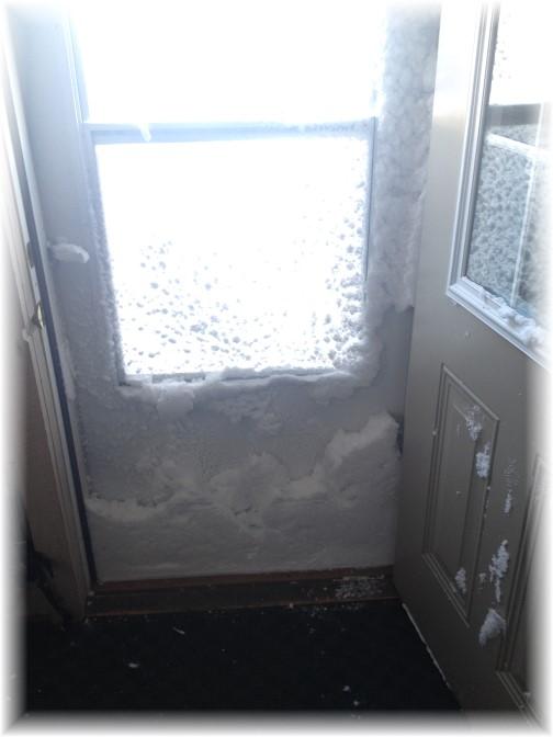 Winter blast 2/15/15 storm door