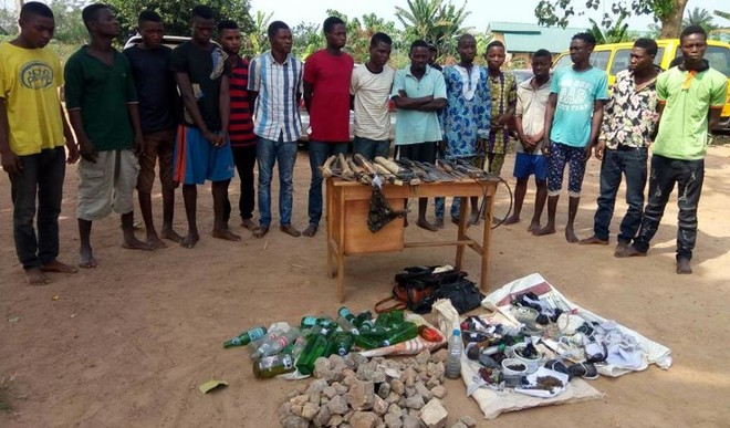 12 suspected cultists arrest in Ondo