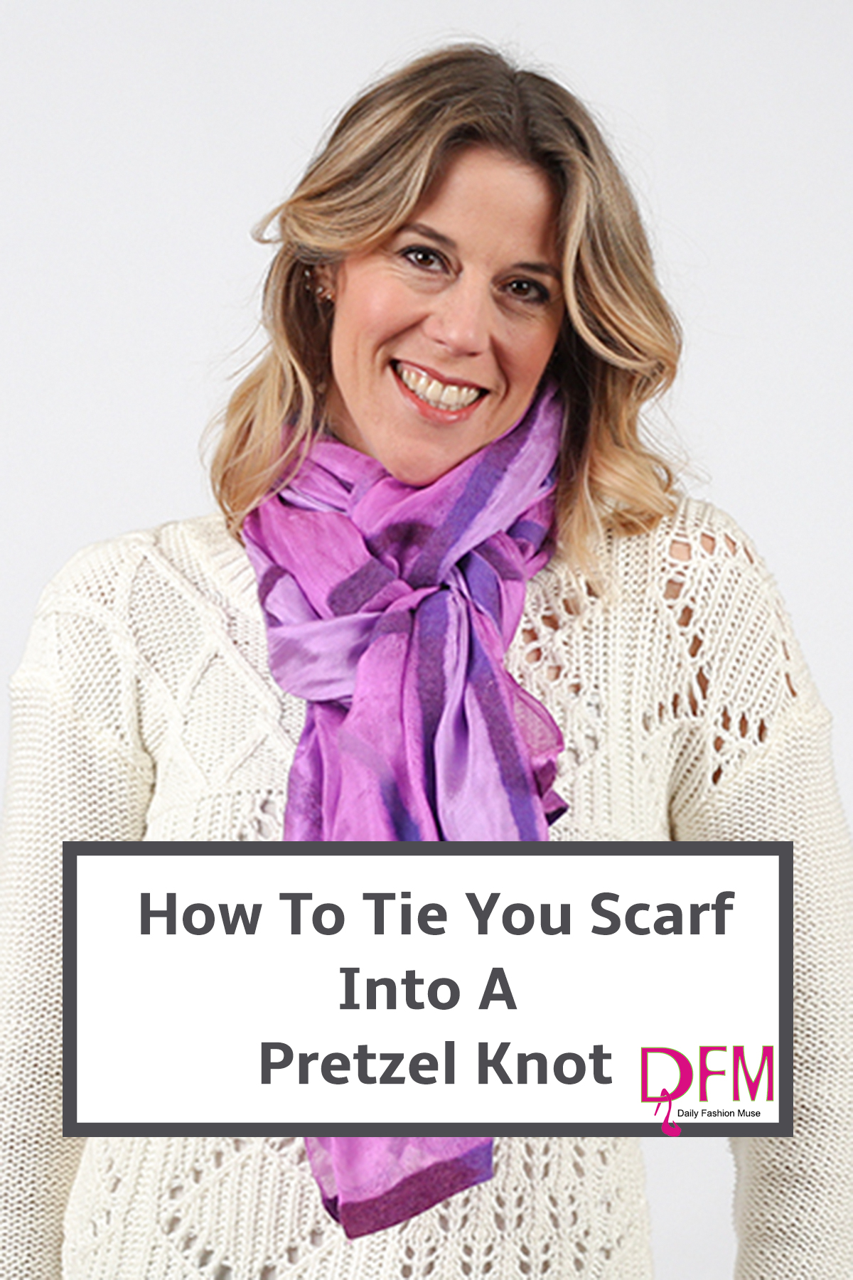 Learn a new way to wear your scarf. This video tutorial will show you how to make a pretzel knot.