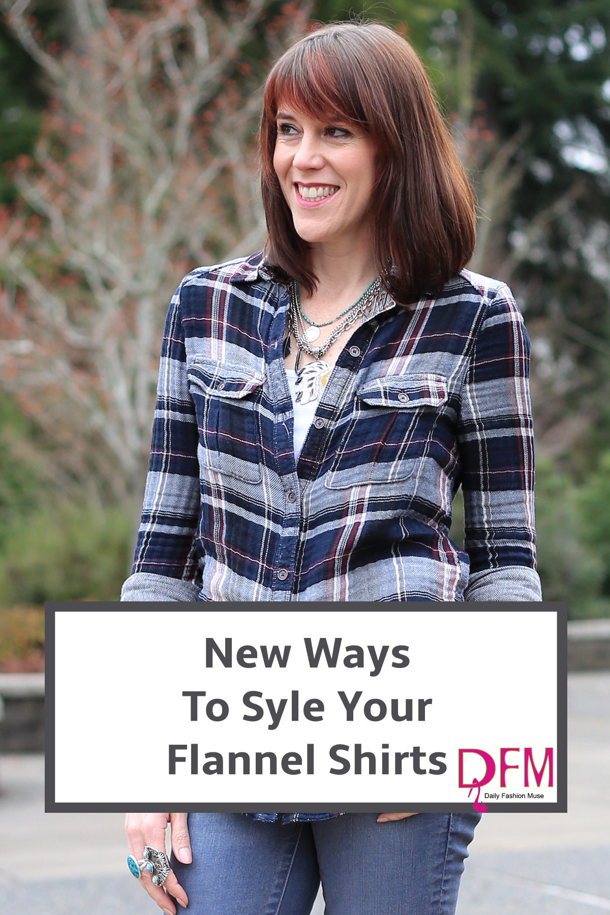 If you find yourself wearing your flannel shirt the same old way time after time, click through to see new ways to style your flannel shirt outfits.