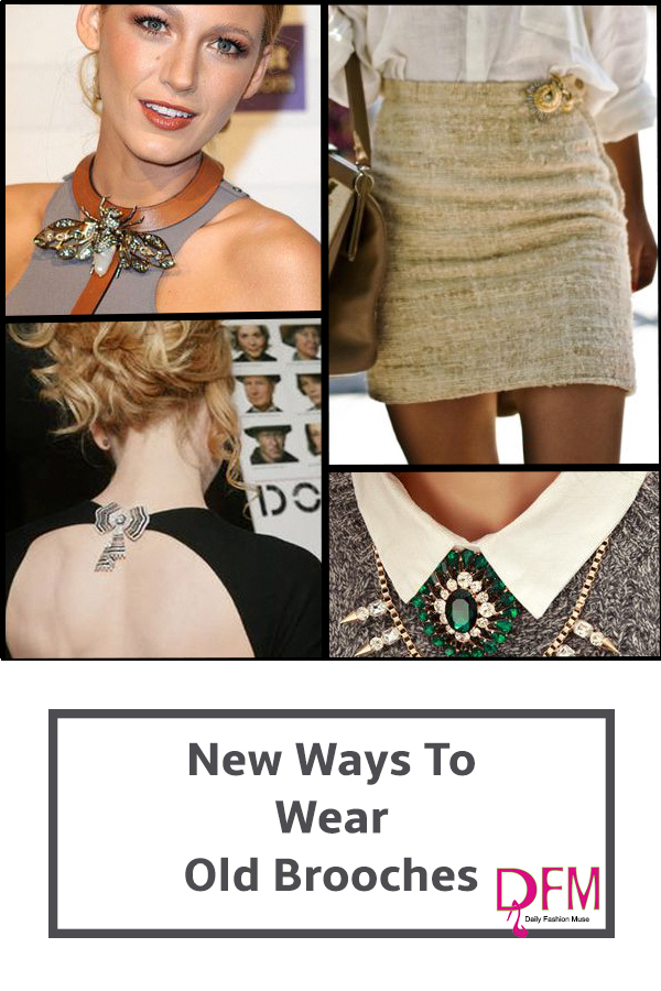 Looking for new and unique ways to wear that collection of brooches you have accumulated? Click through for fresh ideas.