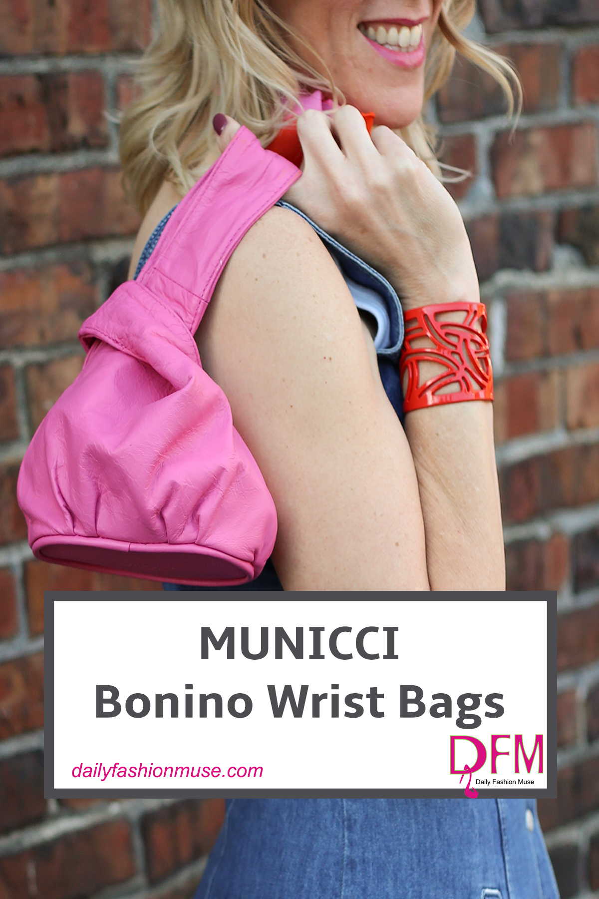 This hand's free wrist bag is perfect for a night out. Just big enough to slip all your essentials into, yet small enough to take with your everywhere. Hit the dance floor, sip your cocktail, whatever the night brings, you will not have to worry about leaving your bag unattended.