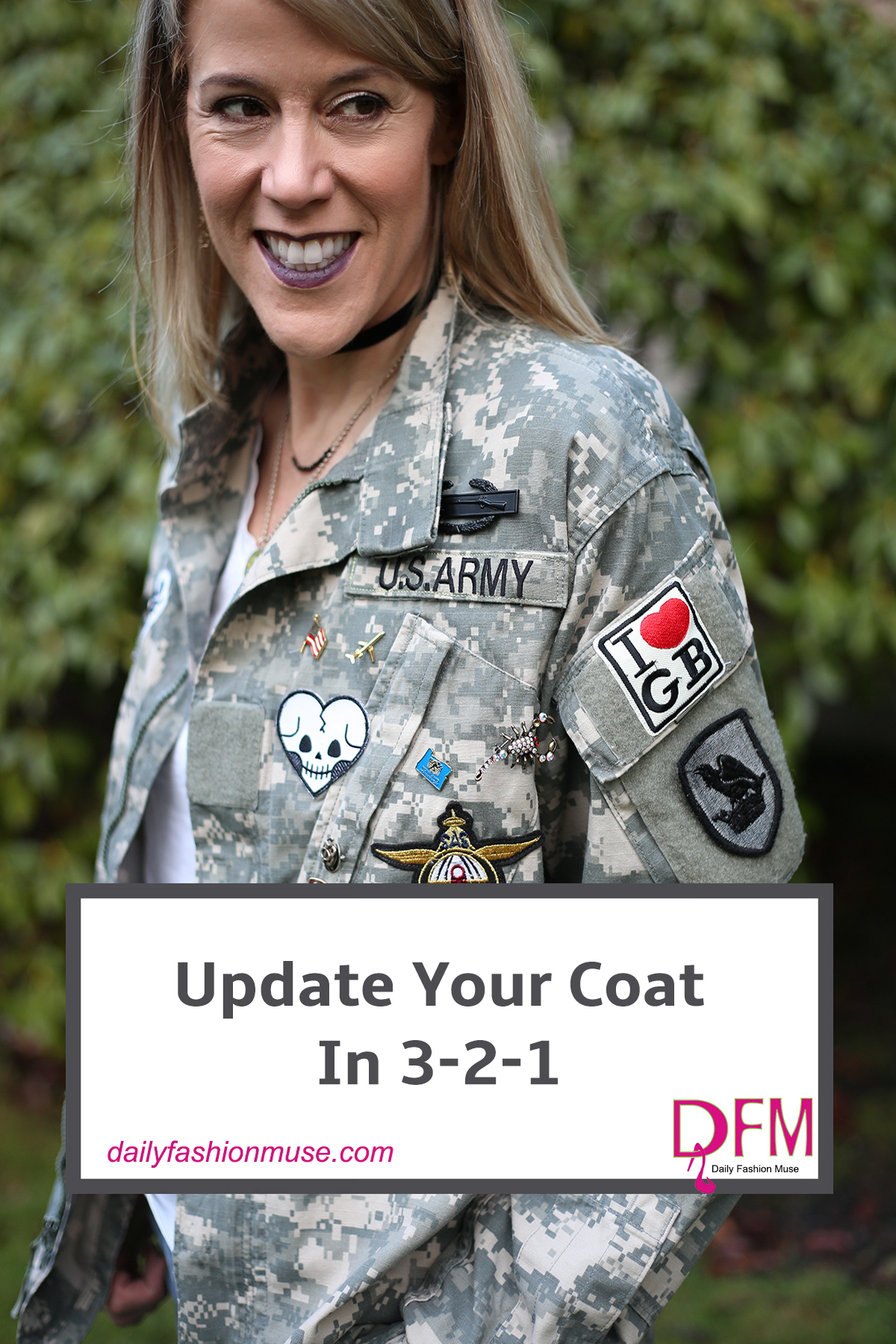 If you are looking to make some quick fashion changes in your wardrobe, they try updating your coat. Click to see my super fast diy.
