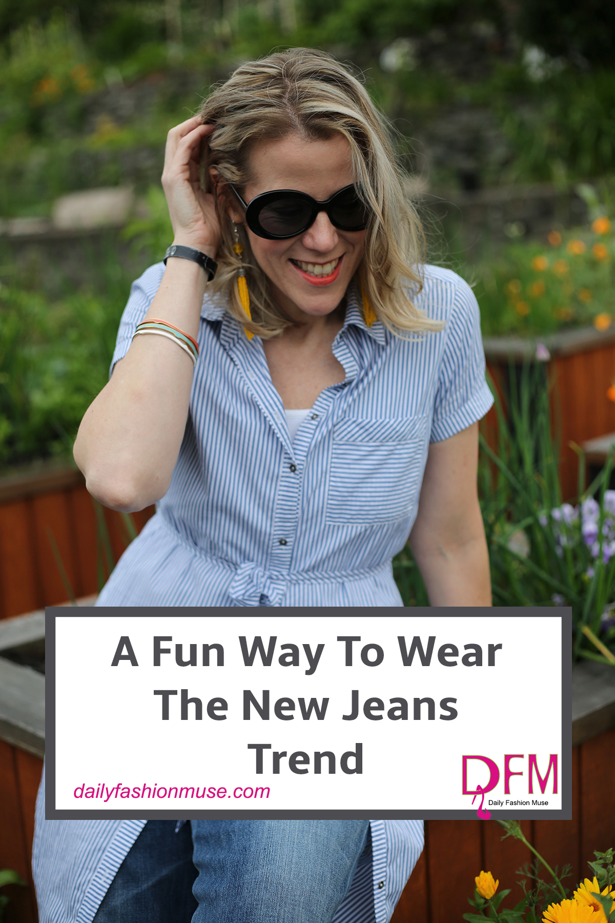 There is a new jeans trend in town and I for one am totally on board. It can be a little intimidating, but the wide leg cropped jean is very flattering. -Daily Fashion Muse