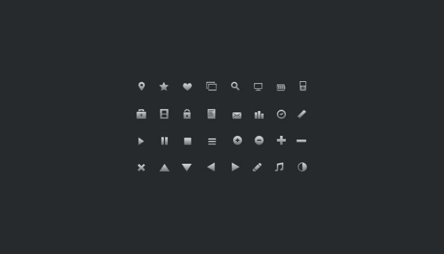 32 better-designed tiny Icons  (psd)