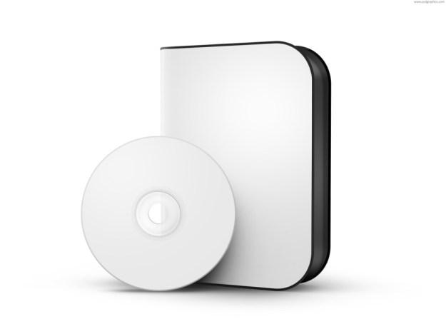 White DVD disc psd