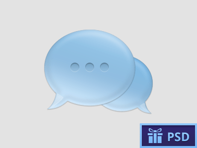Light blue Chat Bubble PSD