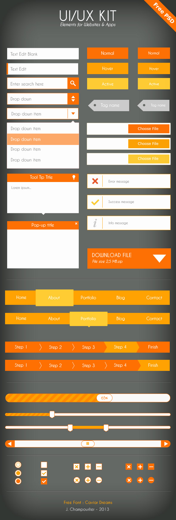 UI UX Kit Elements For Website & APP (PSD) 2