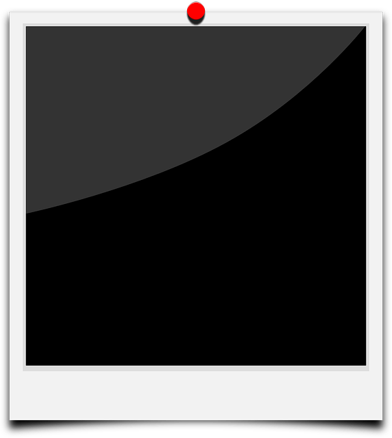 Black polaroid frames free vector