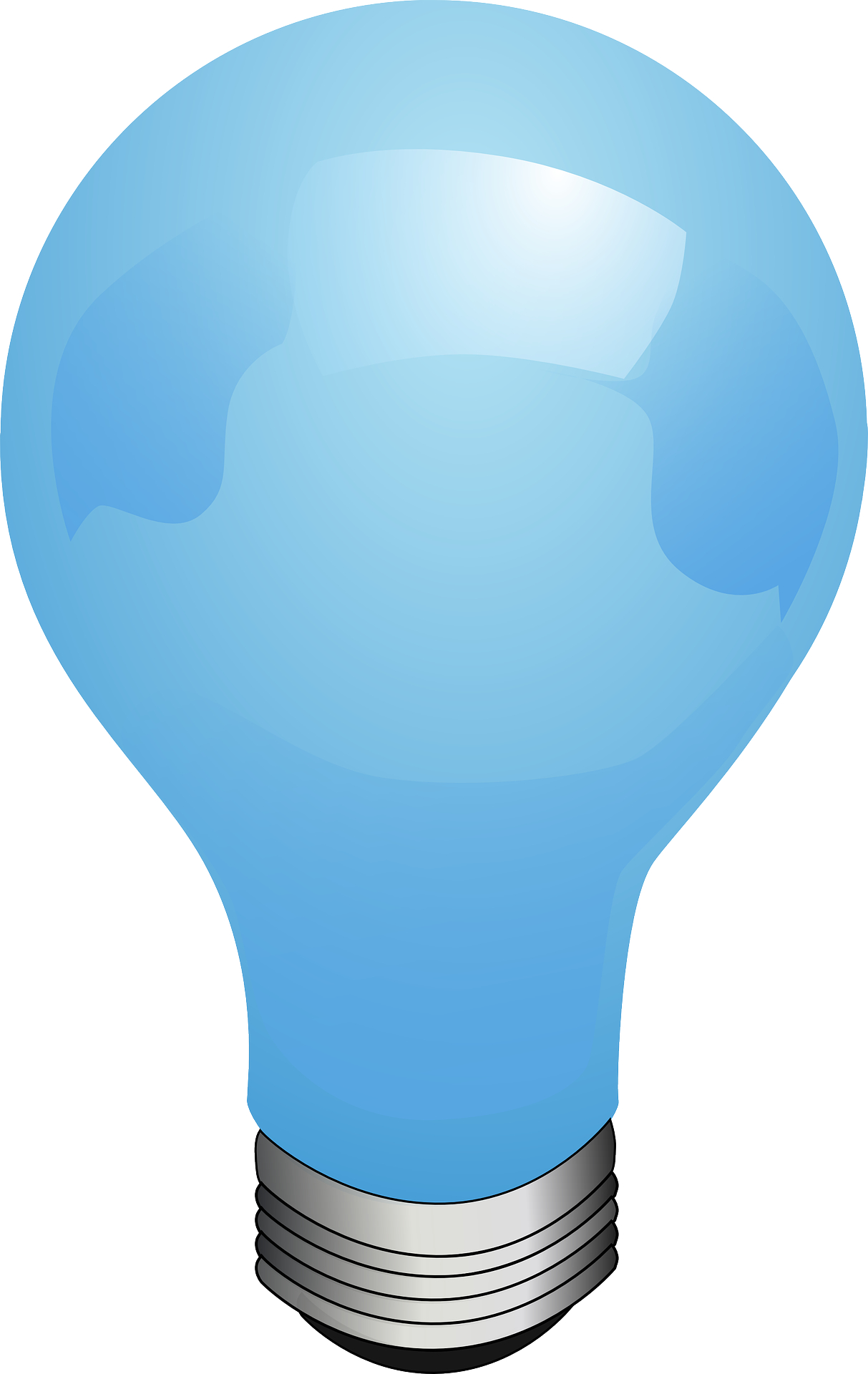 Blue electric light bulb vector
