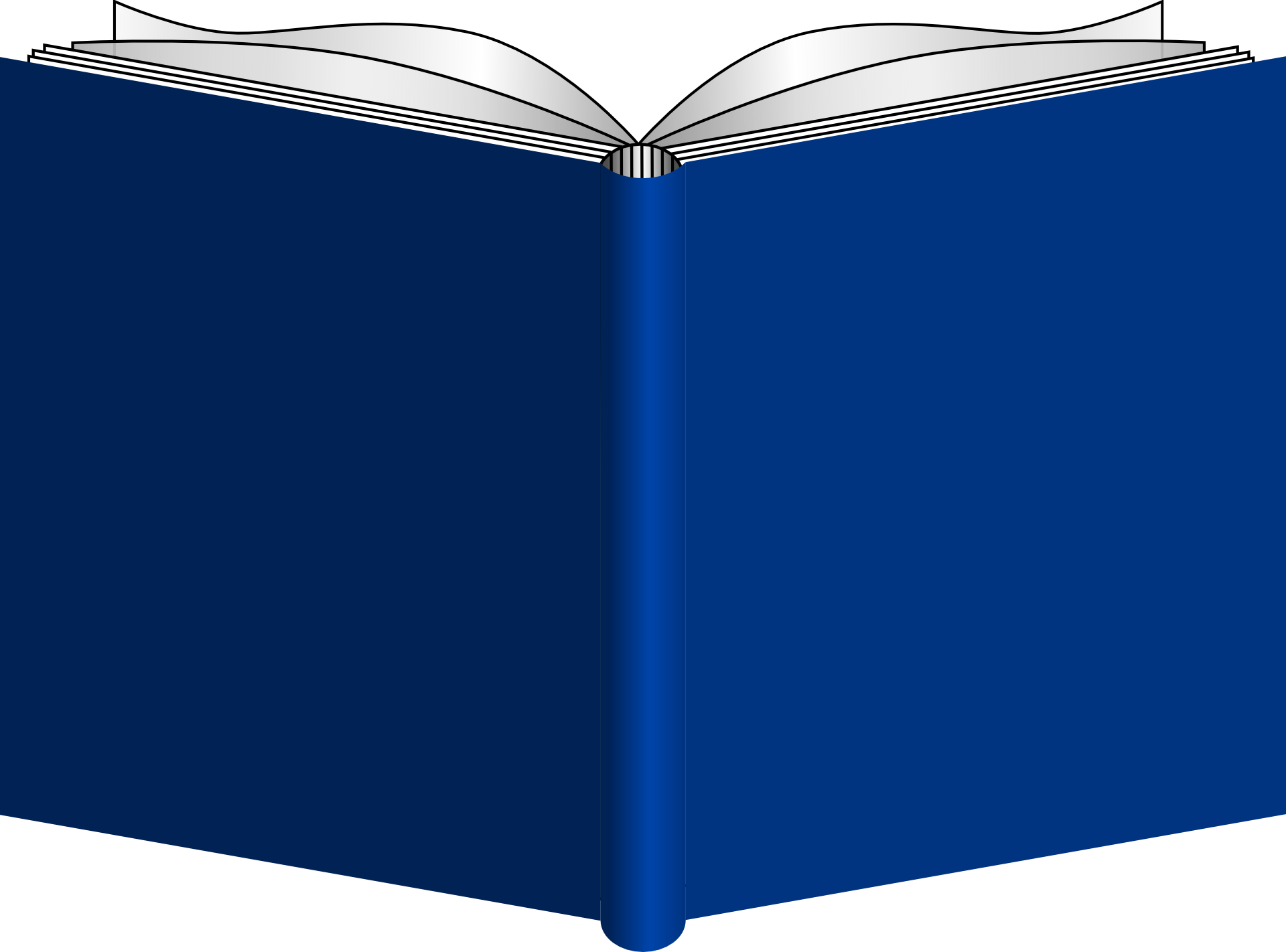Blue open book vector