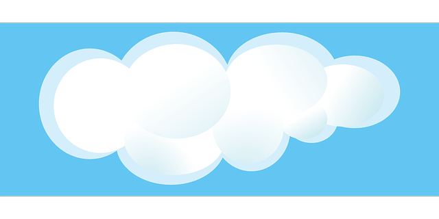Blue sky & cloud cumulus free vector