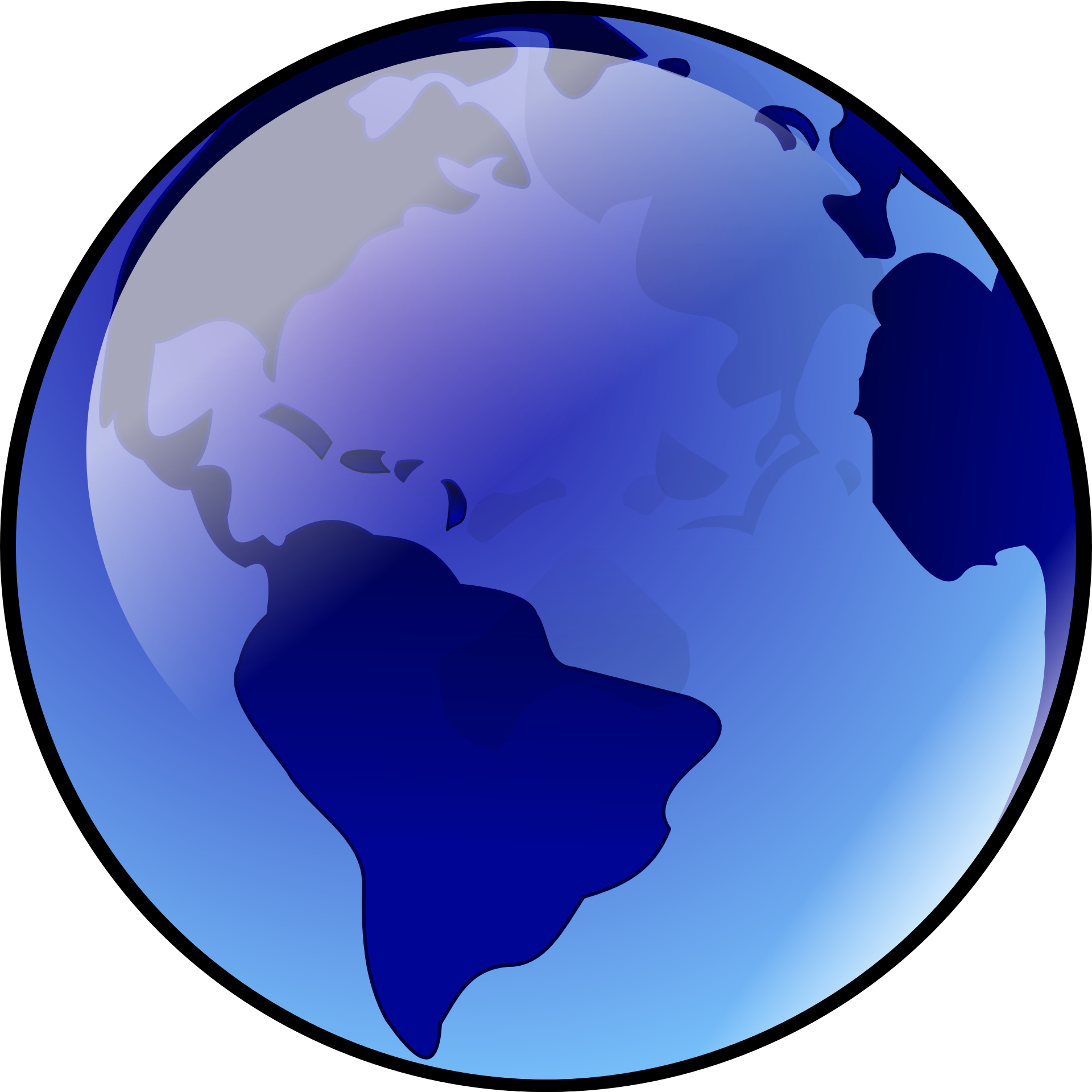 Bluish Earth vector