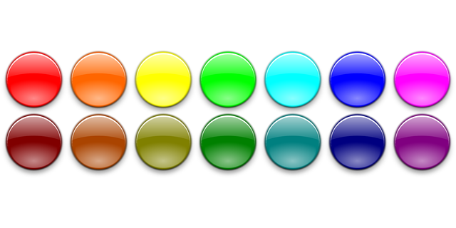 Colour buttons free vector