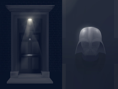 Darth Door Free Vector