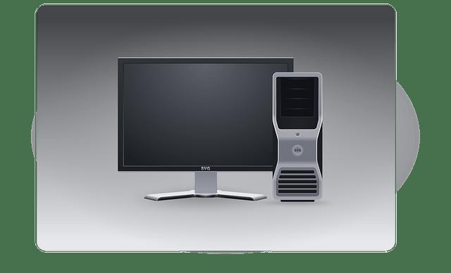 Desktop PC-LCD display, host computer vector