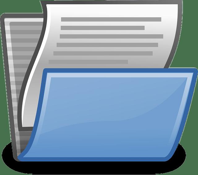 Document & Open Folder Free Vector