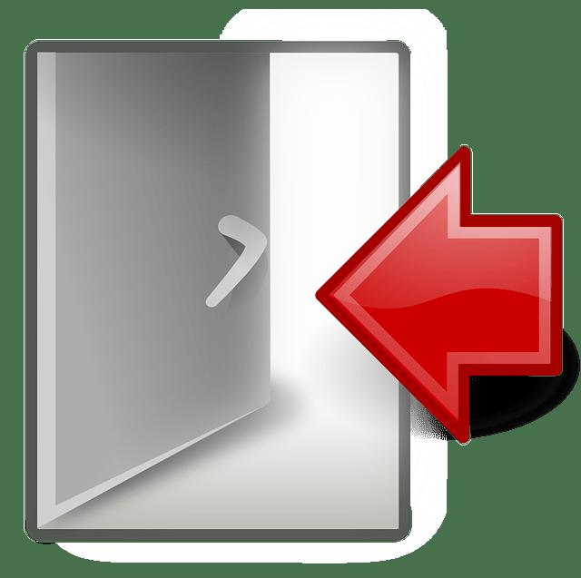 Door & Arrow free vector