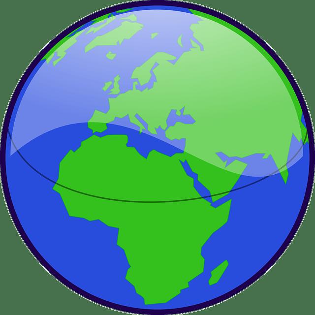 Earth-world map vector