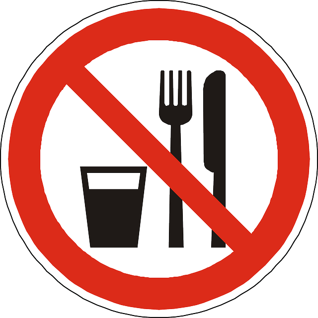 Eat & Drink prohibitory sign Free vector