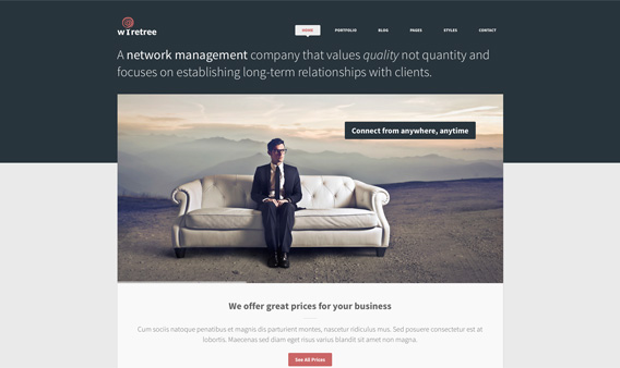Free Responsive HTML5 PSD Template 2
