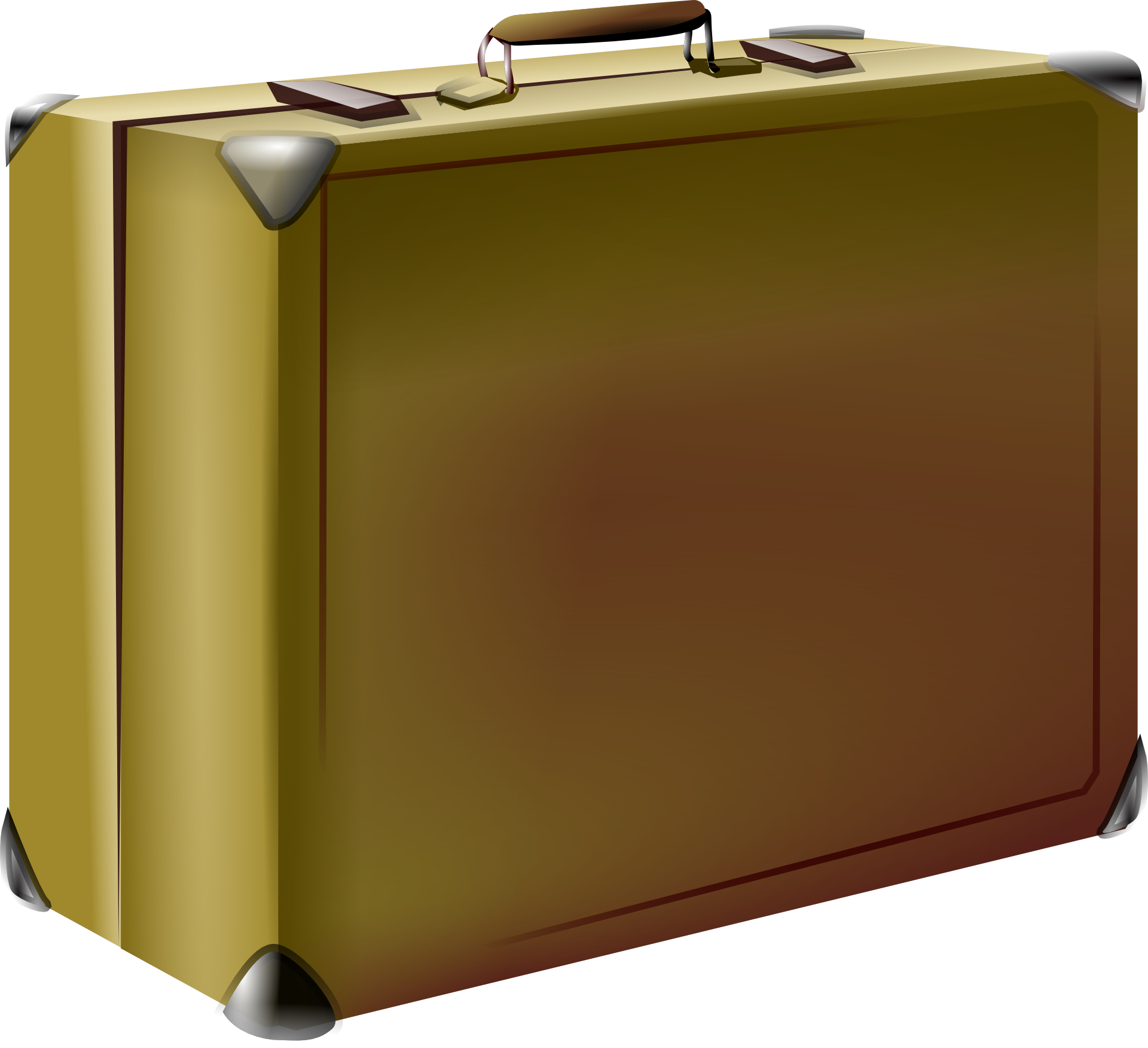 Golden suitcase,luggage vector