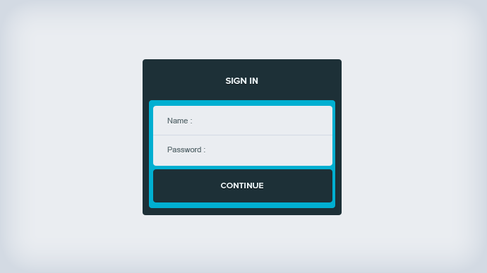 Input & Sign In Free PSD