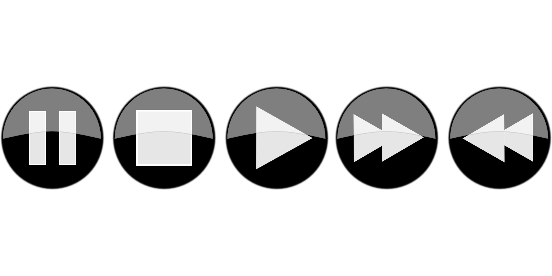 Media Player-Pause, fast forward, backward button icon vector