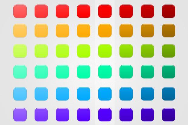 Modern Button Free PSD