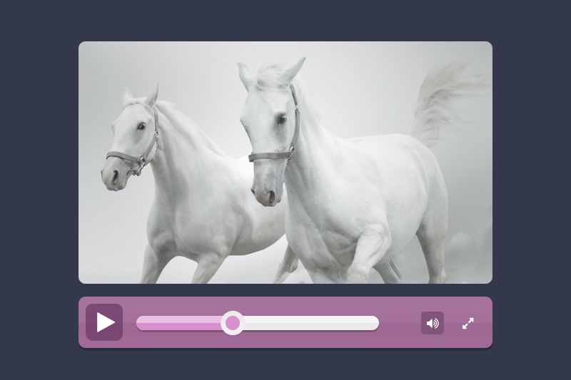 Modern Flat Video Player Design(Free PSD)