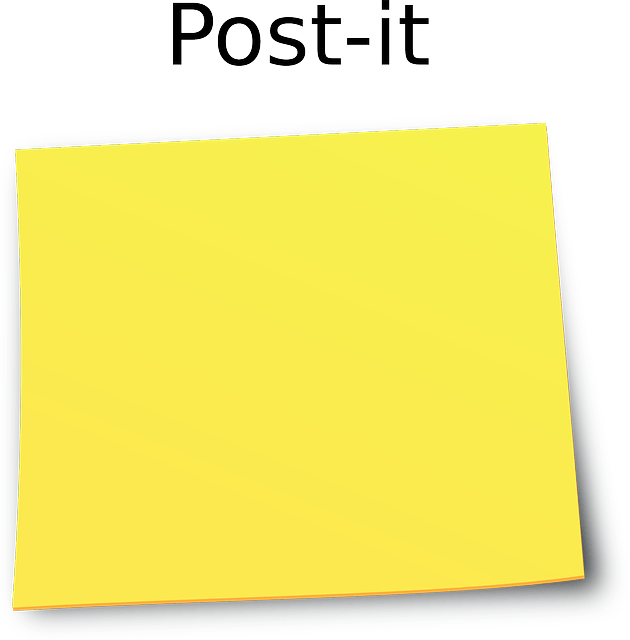 Office yellow Post-It Notes vector