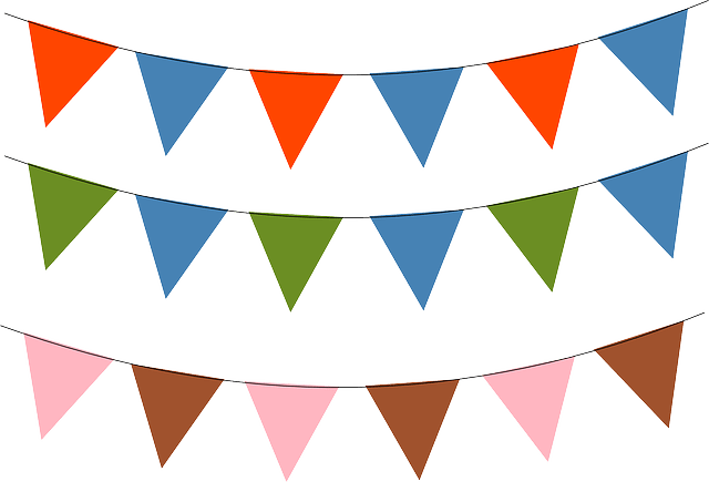 Red brown green blue pink triangle vector