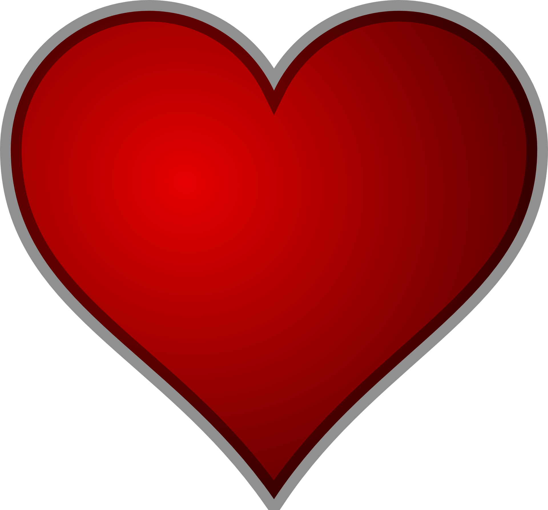 Red-heart outline vector free