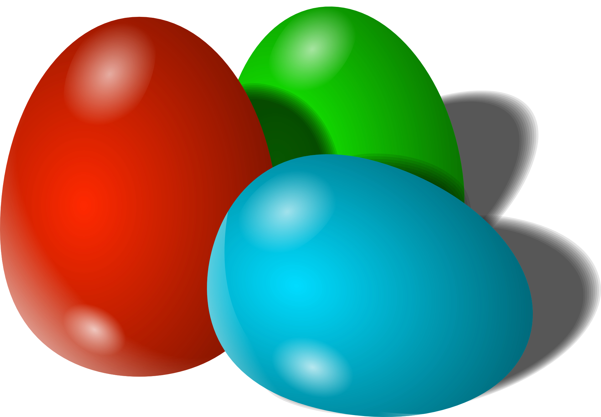 Red,blue,green eggs-cartoon egg vector
