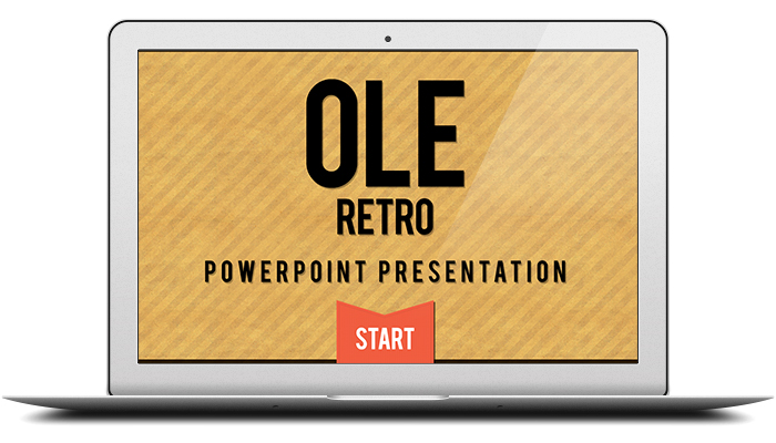 Retro Powerpoint Template PSD