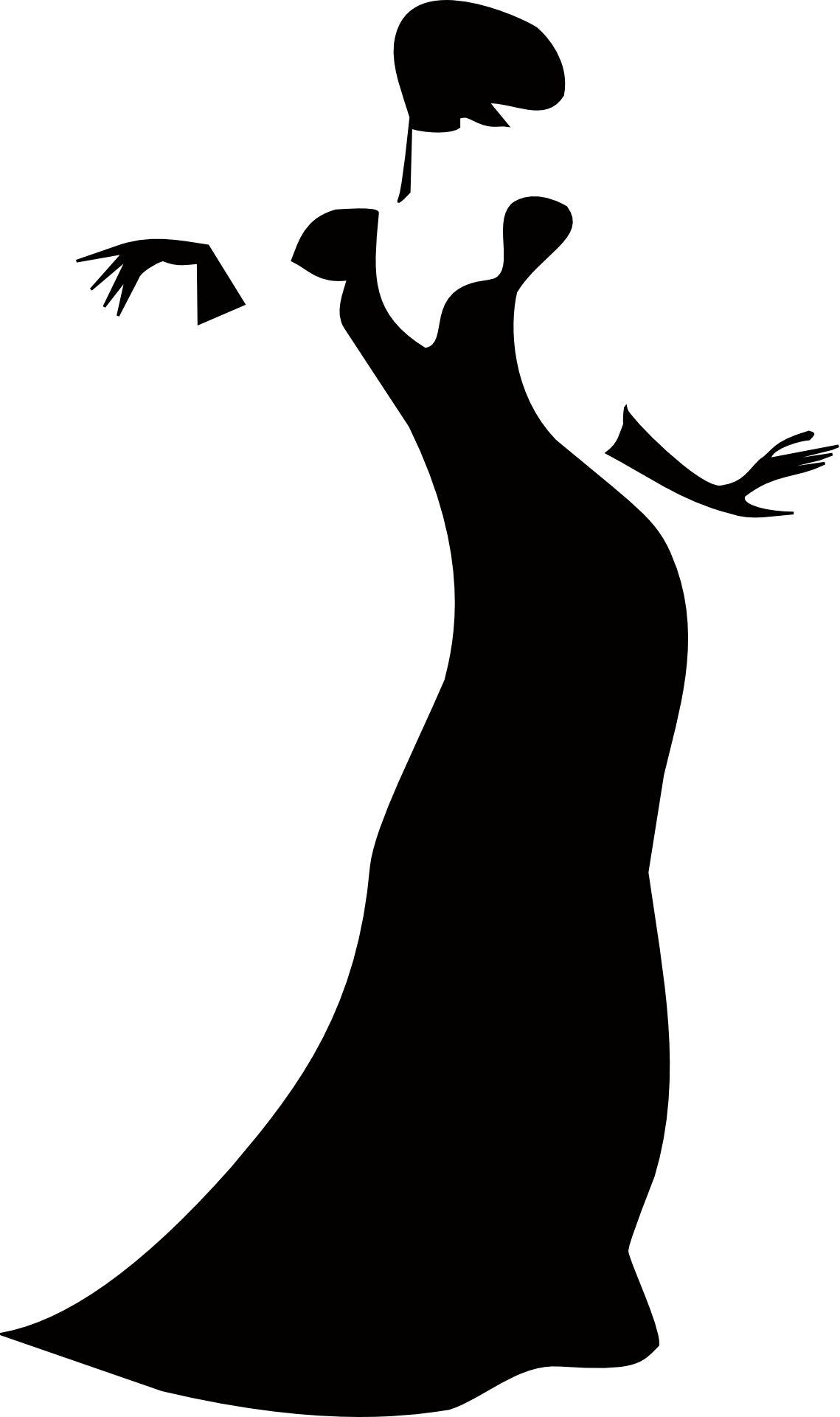 Sexy lady silhouette,fashion girl outline vector
