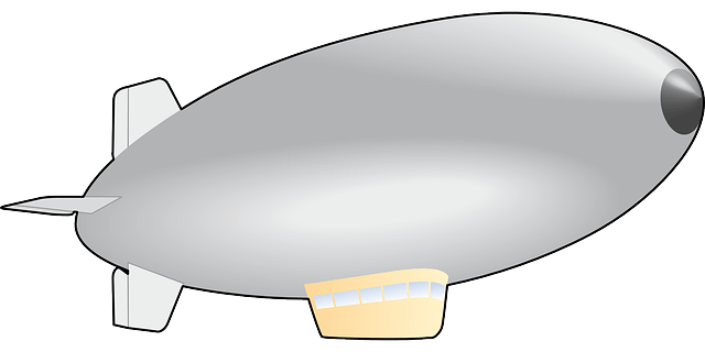 Simple Airship Fly Balloon Free Vector